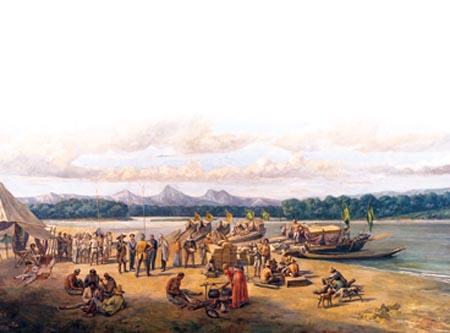 Pintura sobre as expedições bandeirantes Roteiro dos Bandeirantes: conhecendo as estradas que criaram o Brasil de hoje