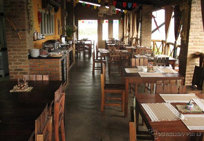 Restaurante da Pousada em Areias: aconchego com gostosuras e uma vista linda!