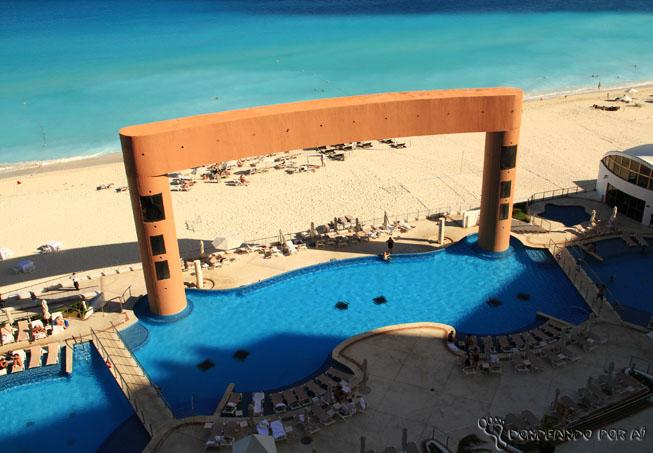 Vista da piscina cancun