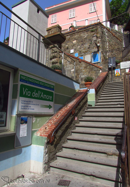entrada caminho via dell'amore