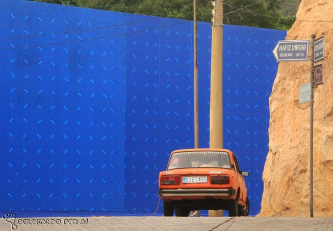 Cenário Salve Jorge com tela azul