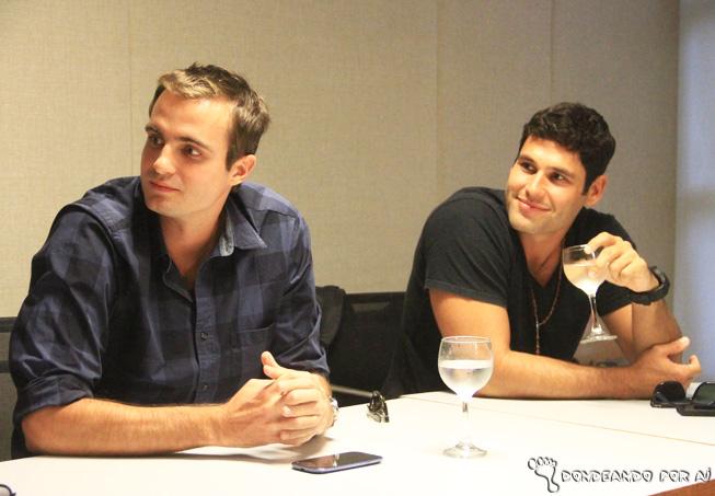 Max Fercondini e Dudu falando sobre Flor do CAribe