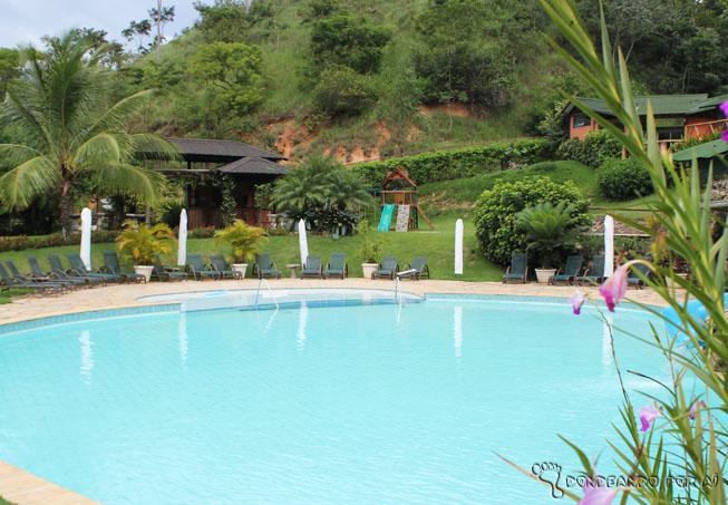 Vista da piscina infantil do Resort.