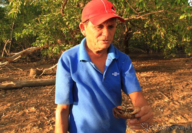 Catador de carangueijo da cooperativa dos catadores do Delta do Parnaíba