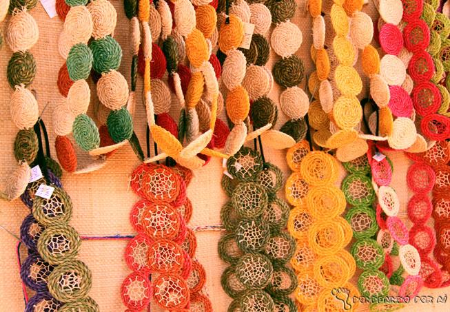 Cordões artesanato palha maranhão