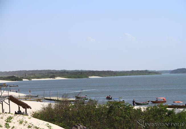 Vista da Pousada do Mirante em Caburé Maranhão