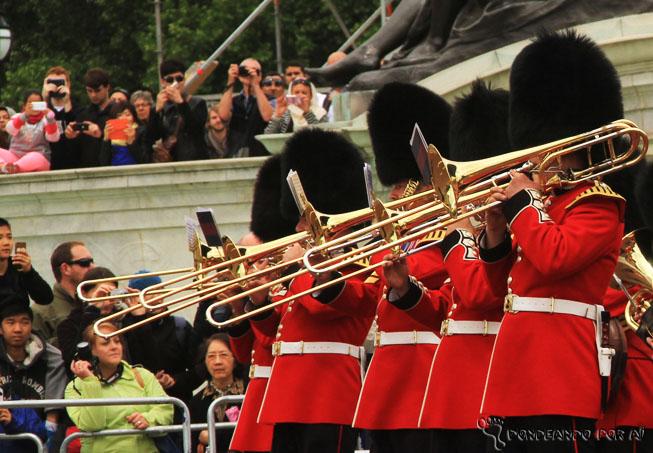 Troca da Guarda Inglesa Palácio de Buckingham