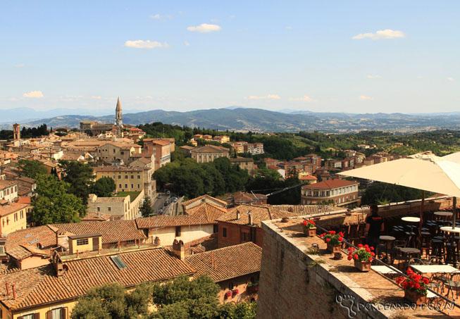 Vista Perugia do Centro Histórico