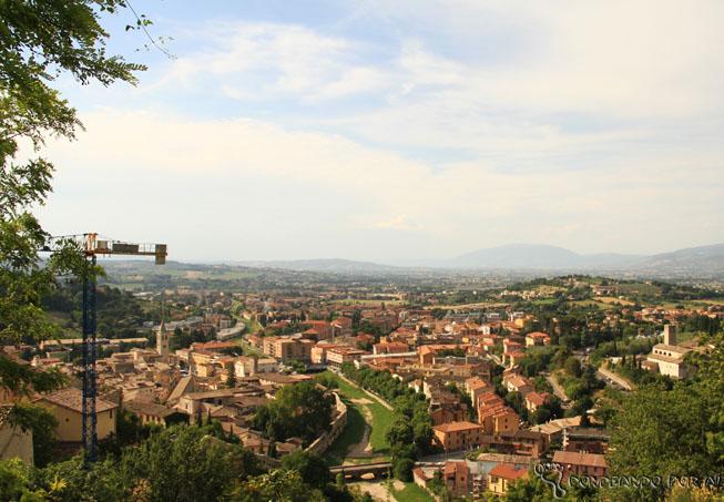 Vista da cidade de Spoleto - Itália