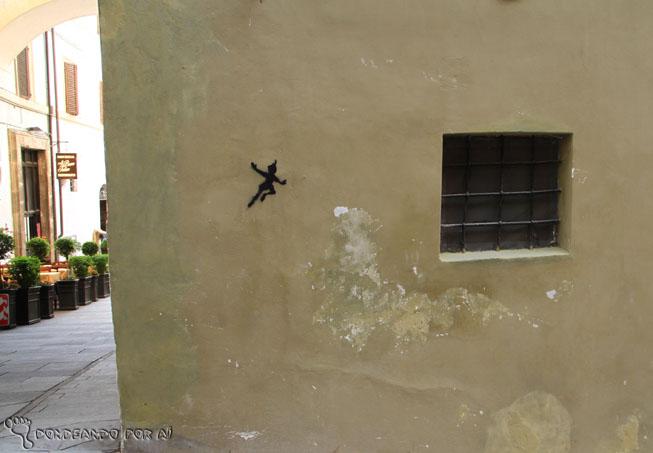 Street art estencil Spoleto