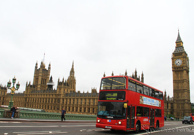 Inglaterra Big Ben ônibus double deck Londres