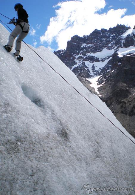 escalando sem sapato