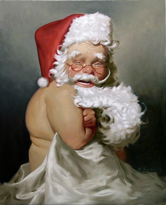 10-santa painting