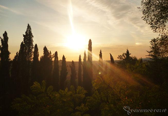 Por do sol na Toscana 2