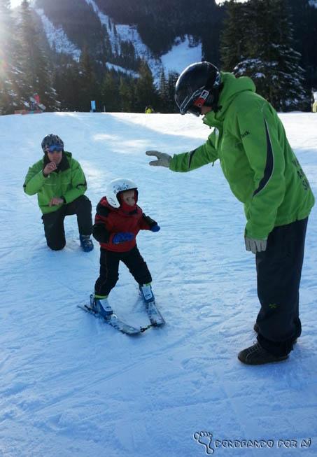 aulas de esqui para crianças
