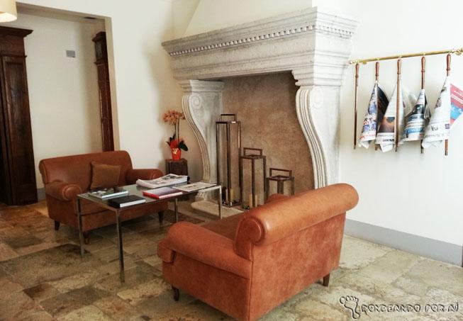 sala de leitura do Palazzo Seneca em Norcia