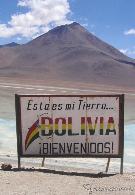 Placa Divisa Bolivia Altiplanos Bolivianos Atacama