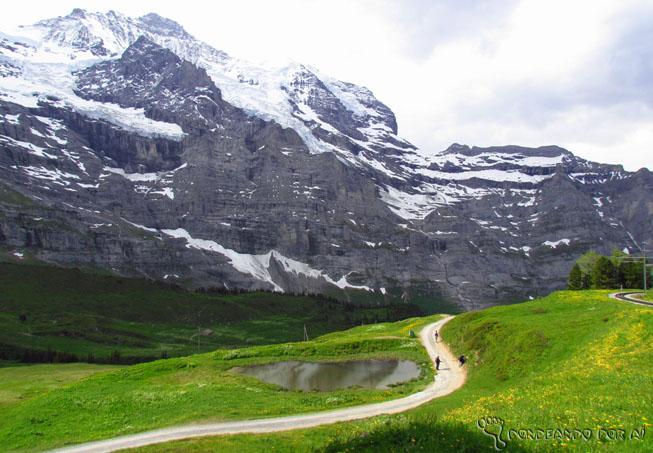 Paisagens trilhas Interlaken
