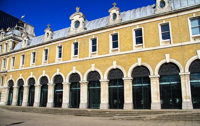 O antigo mercado de peixe de Londres - e que hoje é um espaço de eventos.