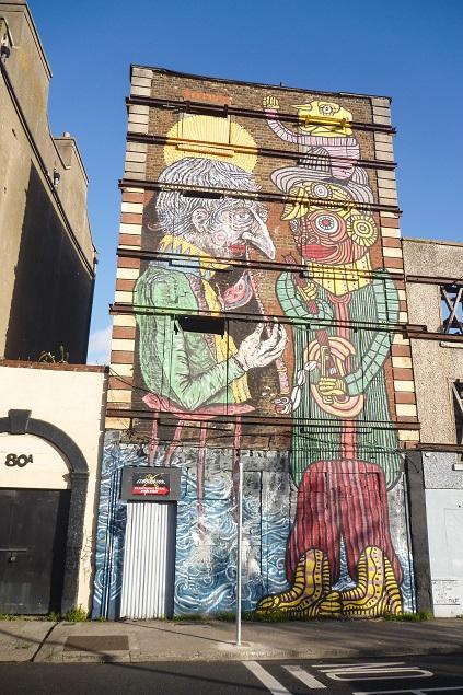 Street-art próxima ao Generator Hostel. A área ao redor é bem legalzinha...