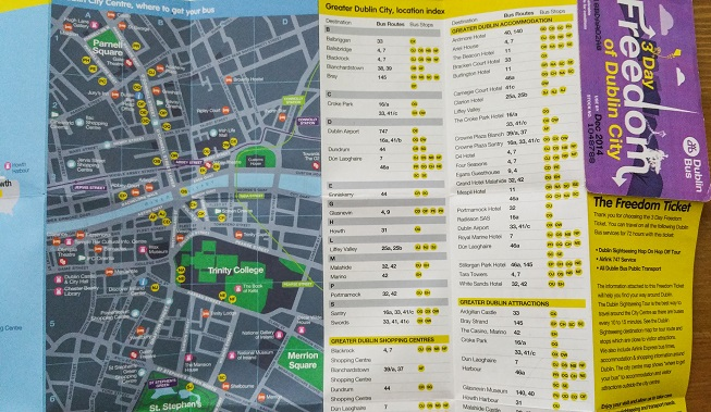 Guia de ônibus Dublin