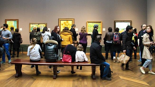 Ala dos quadros de Van Gogh... Lotada!!!!